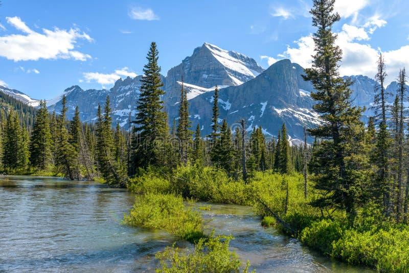 Mount Gould at Cataract Creek fotografia stock libera da diritti