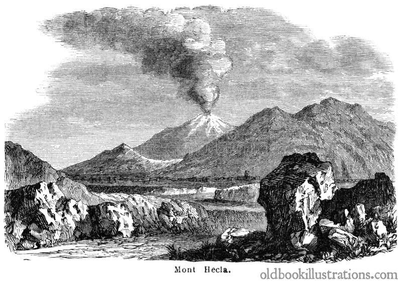 Mount Hekla royalty free stock images