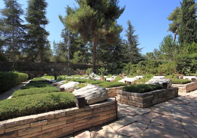 Mount Herzl nationell militär kyrkogård royaltyfri foto