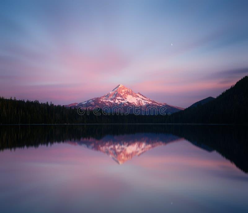 Mount Hood At Dusk Stock Photo