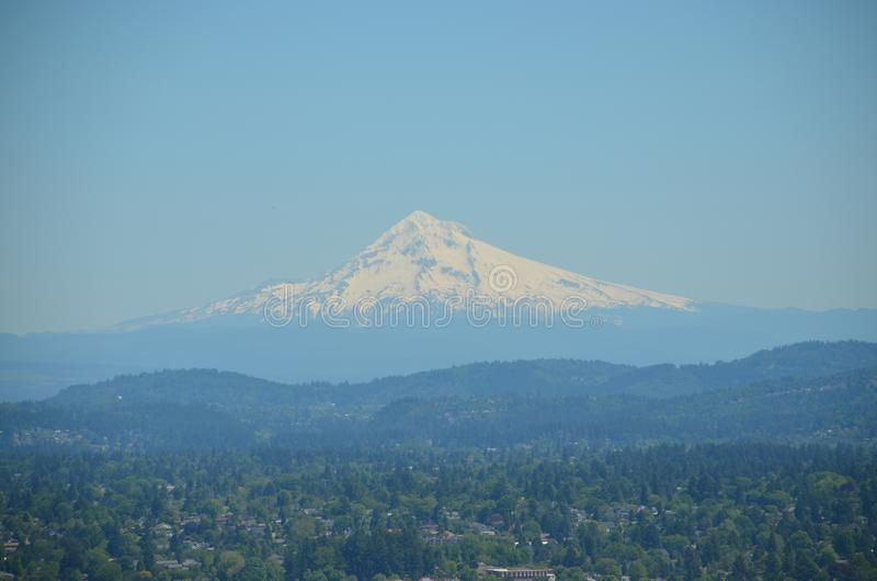Mount Hood, forest, and blue sky, Portland, Oregon royalty free stock images