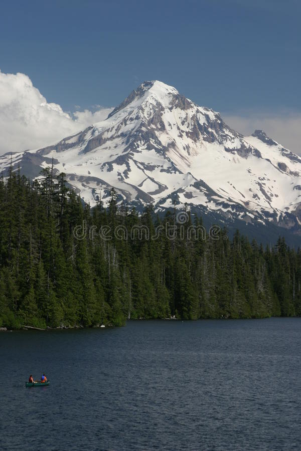 Mount Hood North Face from Lost Lake Wilderness Area stock photos