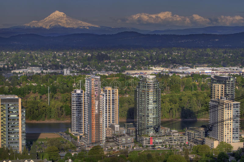 Mount Hood and South Waterfront royalty free stock photo