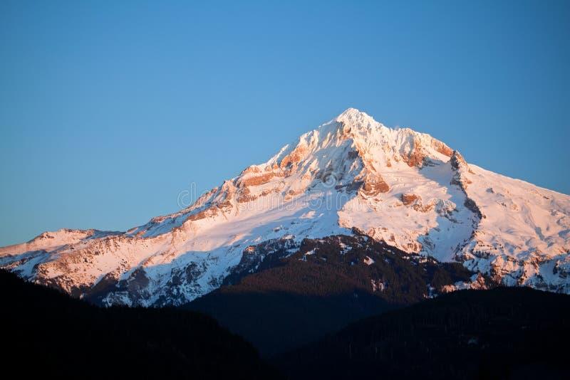 Mount hood in winter stock images