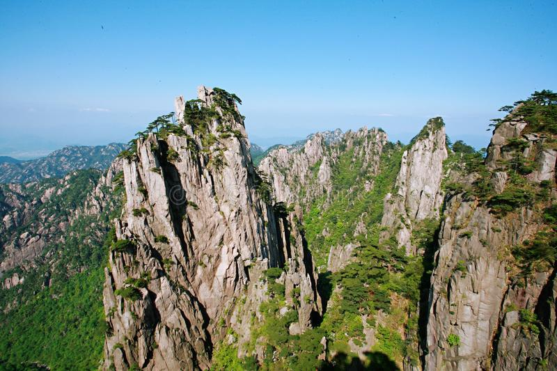 Mount Huangshan. Is located in Huangshan City, south of Anhui Province, China. There are 72 peaks. The Lianhua peak of the main peak is 1864 meters above sea royalty free stock photography