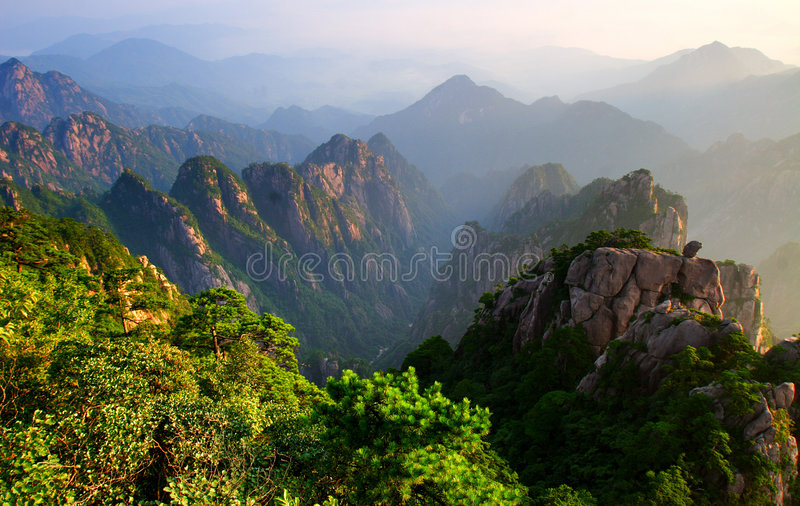 Download Mount Huangshan Sunrise In July 2007 Stock Photo - Image: 2911020