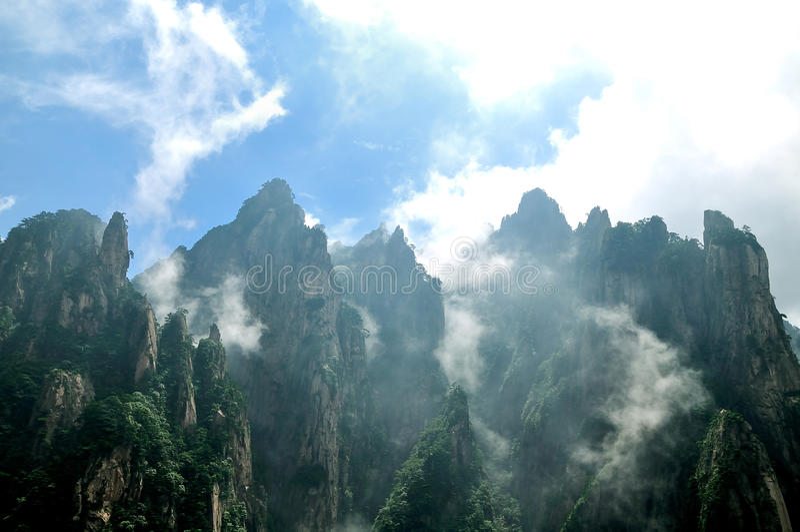Mount Huangshan Xihai Grand Canyon, incredible chi stock photos