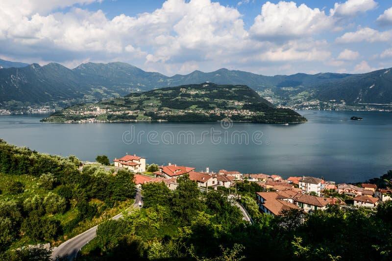 Mount Isola Island, Iseo lake, Brescia, Lombardy, italy stock photo