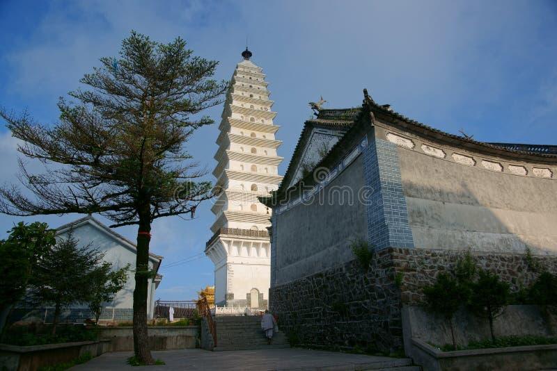 Download Mount Jizu stock image. Image of lake, stupa, peak, mountain - 25957653