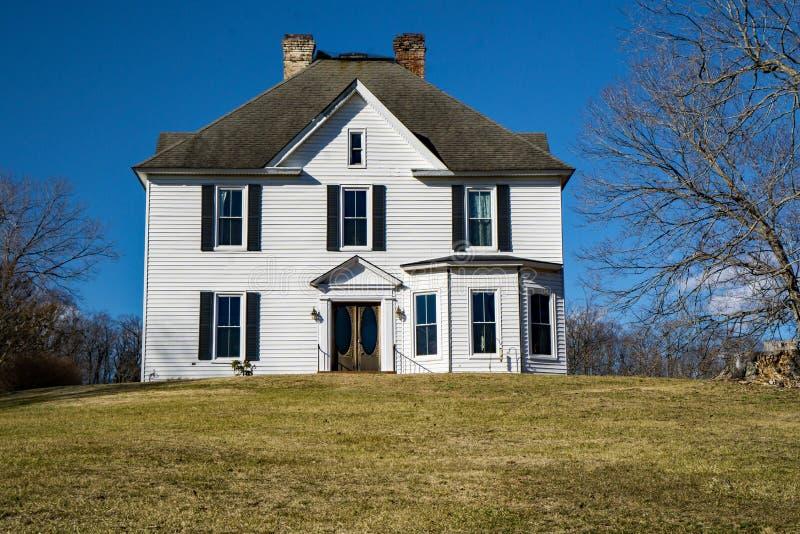 Mount Joy – Botetourt County, Virginia, USA. Botetourt County – January 10th: Mount Joy was destroyed during the Civil War Hunter's Raid on June royalty free stock images
