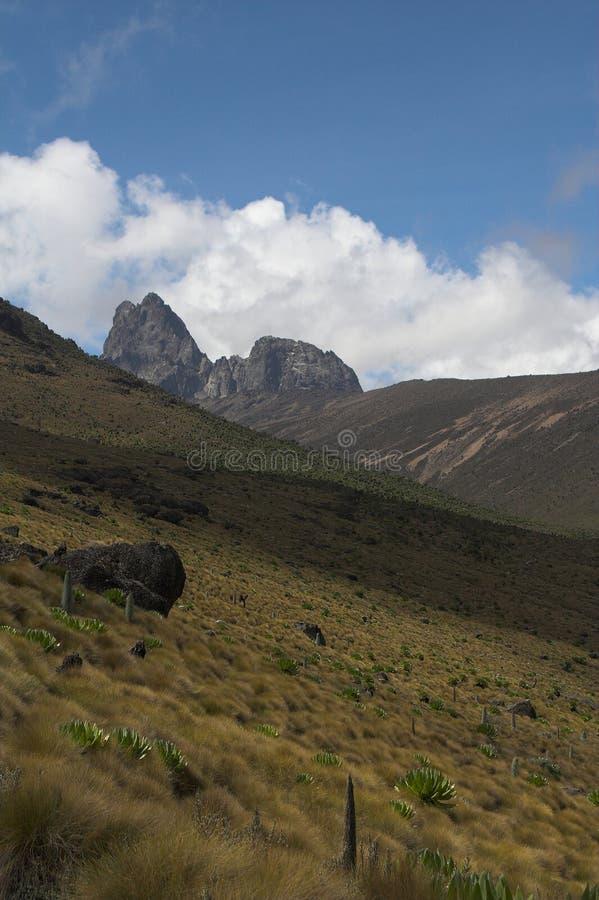 Mount Kenya 1 stockfoto