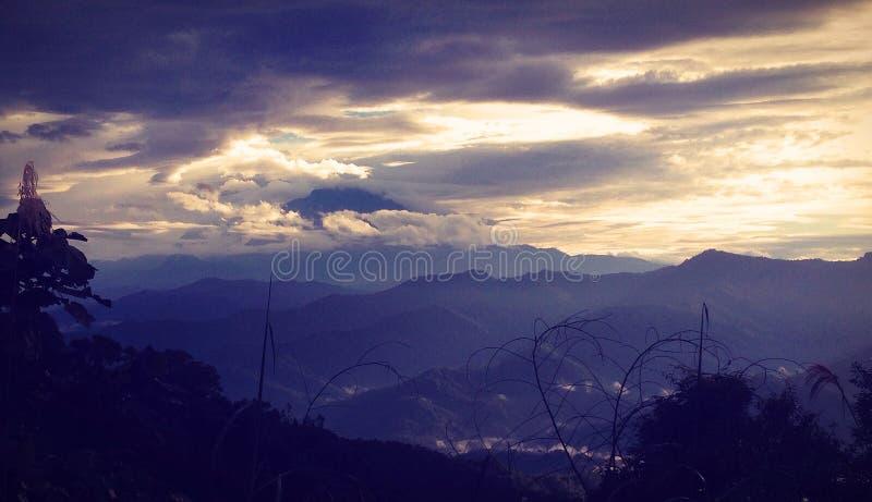 Mount Kinabalu during early morning royalty free stock photos