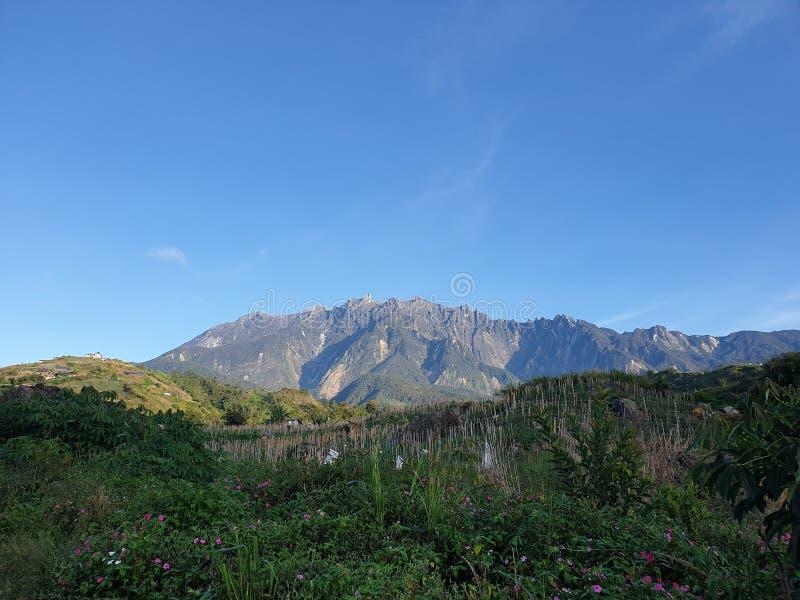 Mount Kinabalu sikt, Sabah, Borneo, Malaysia royaltyfri foto
