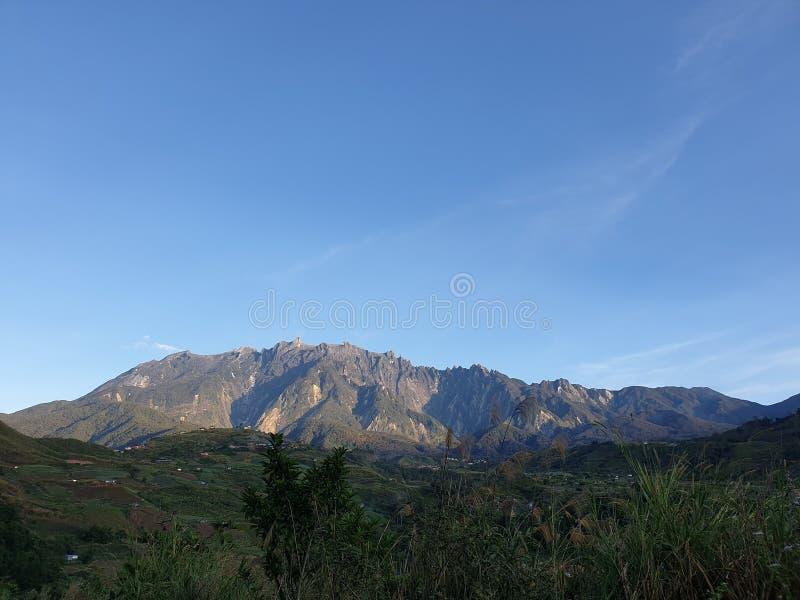 Mount Kinabalu sikt, Sabah, Borneo, Malaysia arkivfoton