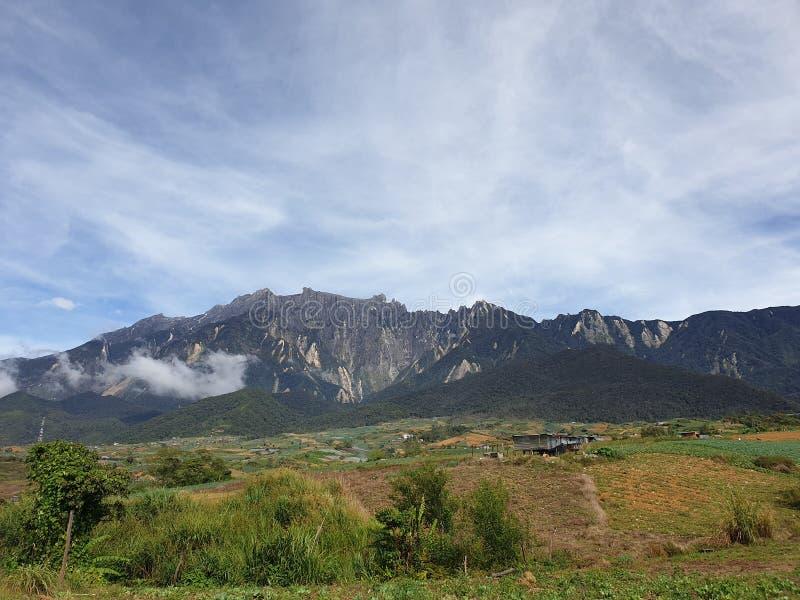 Mount Kinabalu View, Sabah, Borneo, Malaysia royalty free stock images