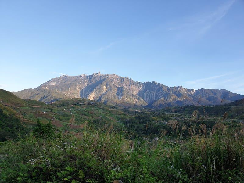 Mount Kinabalu View, Sabah, Borneo, Malaysia royalty free stock photography