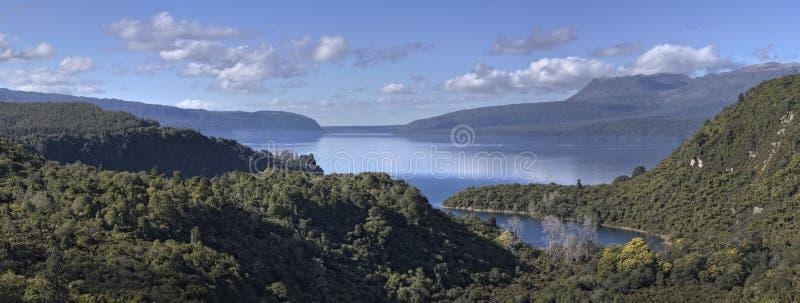 Mount and Lake Tarawera stock photo