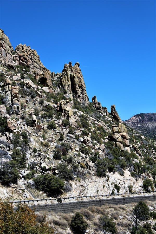 Mount Lemmon, Tucson, Arizona, United States. Scenic landscape view with vegetation of Mount Lemmon located in Tucson, Arizona in the United States royalty free stock photos
