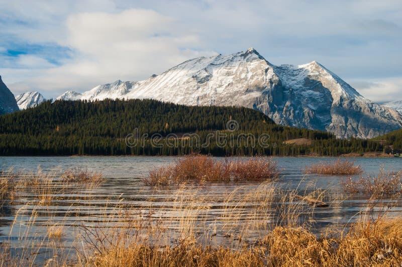 Mount Lyautey and Lower Kananaskis Lake royalty free stock images