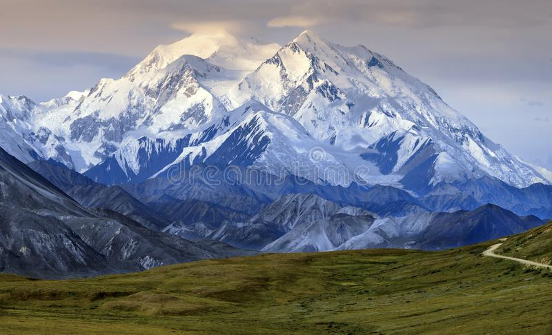 Mount McKinley - Denali nationalpark - Alaska arkivbild
