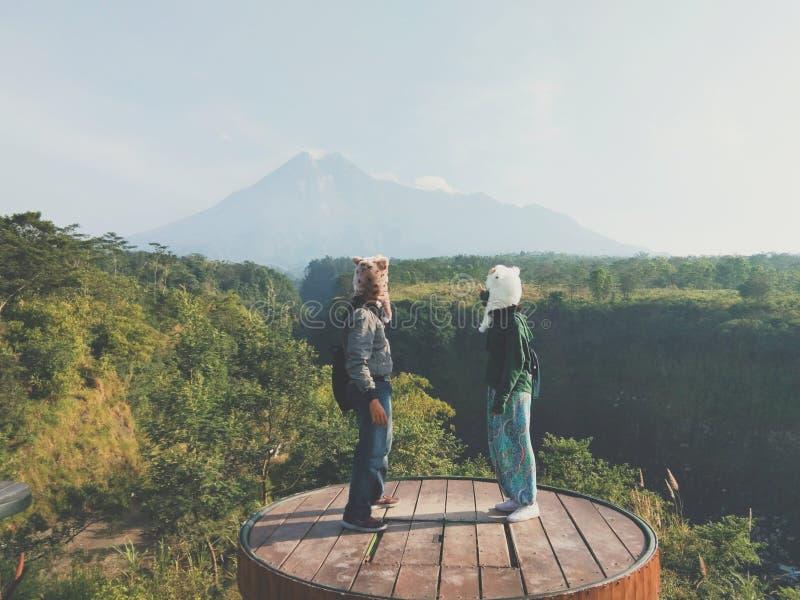 Mount Merapi Yogyakarta Indonesia. A beautiful scene at Merapi Yogyakarta Indonesia royalty free stock photos