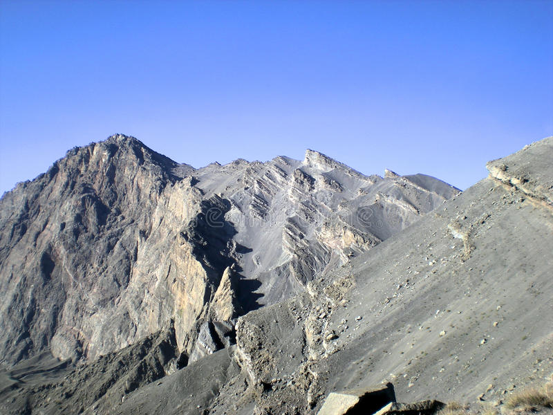 Mount meru. Mount mere the 2nd highest in tanzania royalty free stock photography