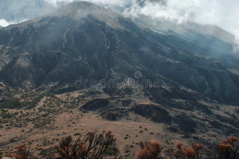 Mount Meru, Arusha National Park, Tanzania. Mount Meru seen from top of Little Meru, Arusha National Park, Tanzania stock photos