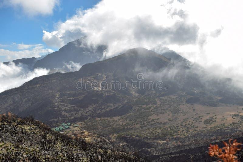 Mount Meru, Arusha National Park, Tanzania. Mount Meru seen from top of Little Meru, Arusha National Park, Tanzania stock photography