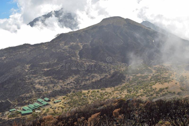 Mount Meru, Arusha National Park, Tanzania. Mount Meru seen from top of Little Meru, Arusha National Park, Tanzania stock images