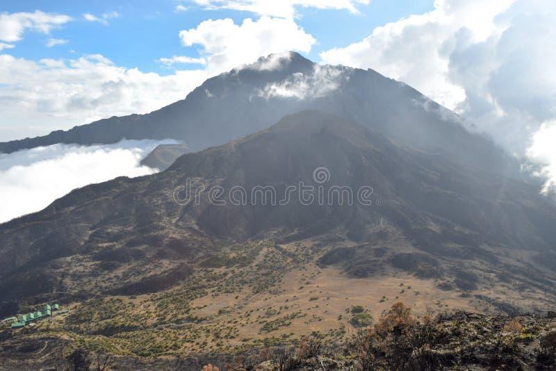 Mount Meru, Arusha National Park, Tanzania. Mount Meru seen from top of Little Meru, Arusha National Park, Tanzania royalty free stock photography