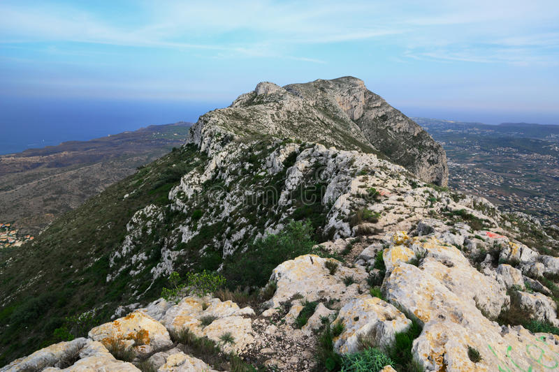 Mount Montgo. View from the top of Mount Montgo, Denia, Spain royalty free stock images