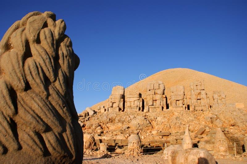 Mount Nemrut. Heads of Armenian gods on Mount Nemrut, modern Turkey royalty free stock image