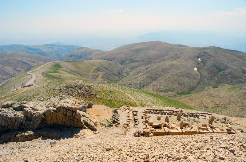 Mount Nemrut in Turkey. stock images