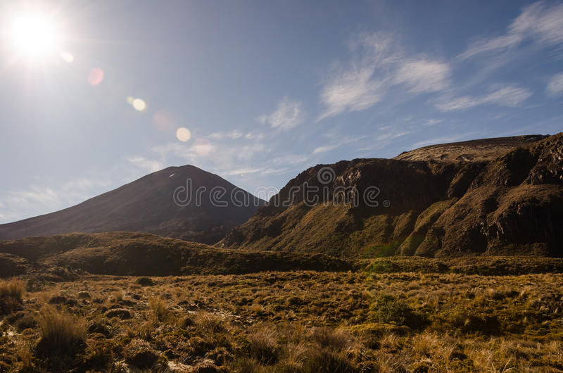 Download Mount Ngauruhoe With Sun Glare Royalty Free Stock Photo - Image: 26332985