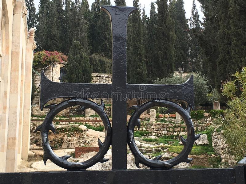 Mount of Olives Cemetery 2015 stock photo