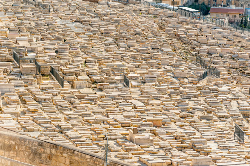Mount of Olives Jewish Cemetery stock image