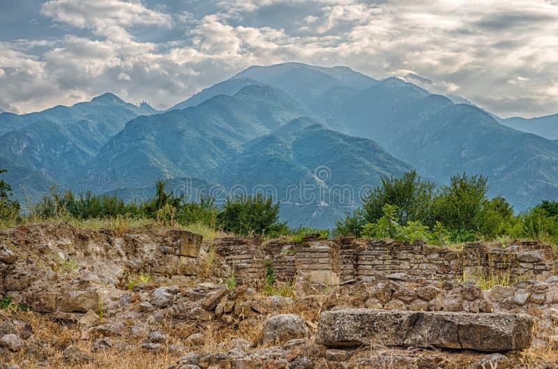Mount Olympus och Dion, Grekland royaltyfria bilder