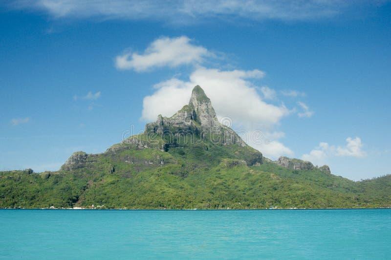 Mount Otemanu at Bora Bora royalty free stock image