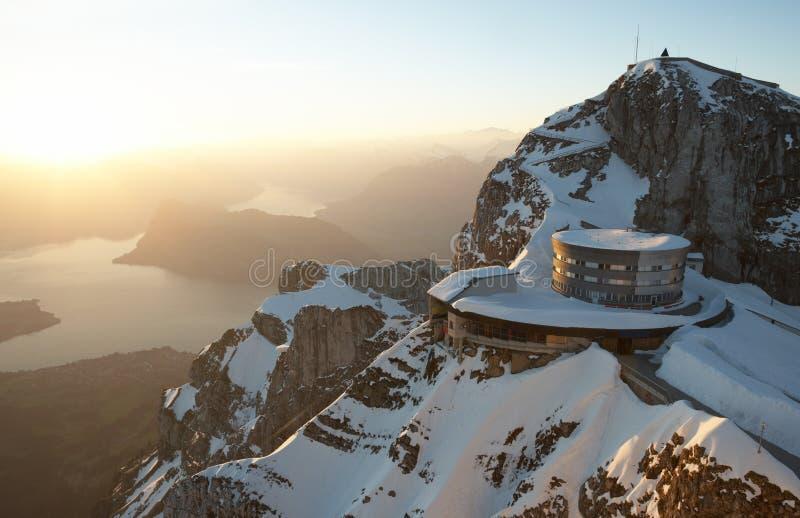 Mount Pilatus With Lake Lucerne stock image