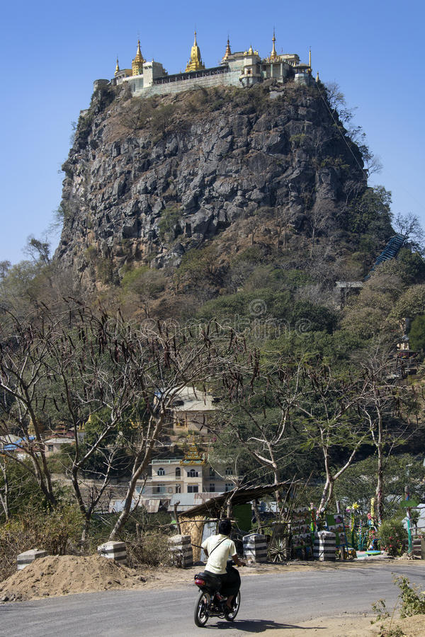 Mount Popa Temple - Myanmar (Burma) stock photography