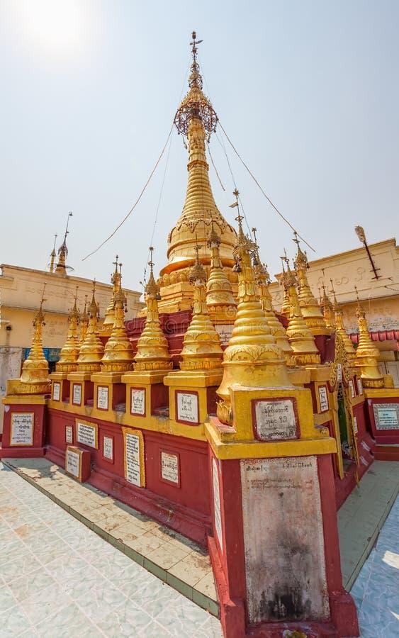 Mount Popa votive stupas royalty free stock images
