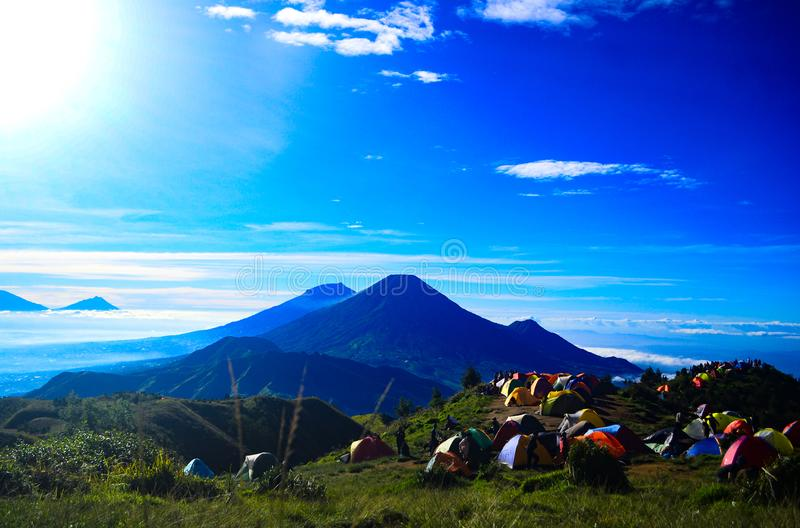 View in Mount Prau stock images