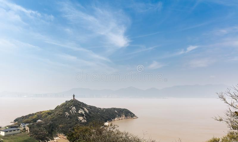 Lighthouse on Mount Putuo royalty free stock photography