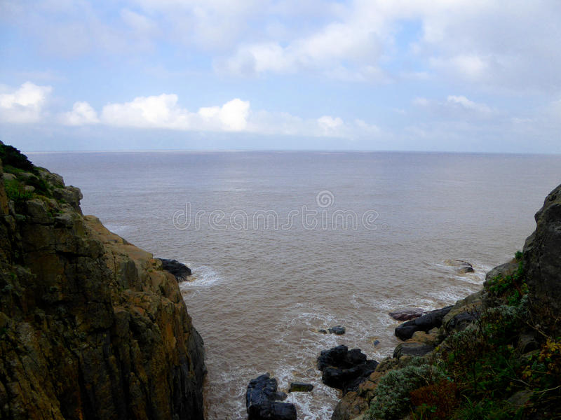 Mount Putuo view. Mount Putuo surrounded by sea in zhoushan city zhejiang province China stock photography