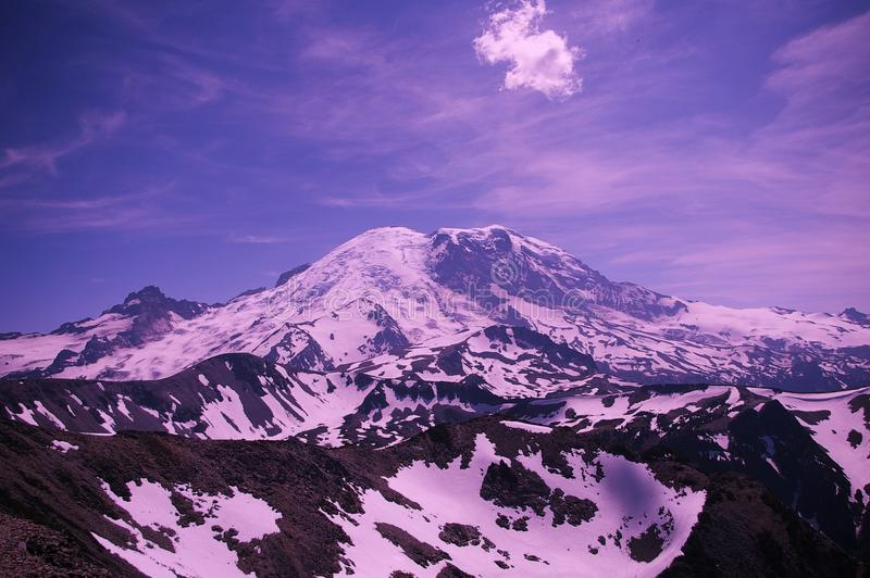 Mount Rainer from the Fremont Trail. stock photo