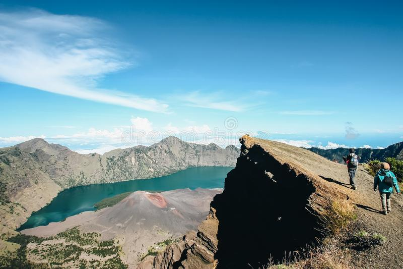 Mount Rinjani, Lombok, Indonesia stock photography