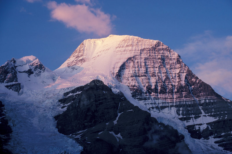 Mount Robson. Rocky Mountains, B.C., Canada royalty free stock image