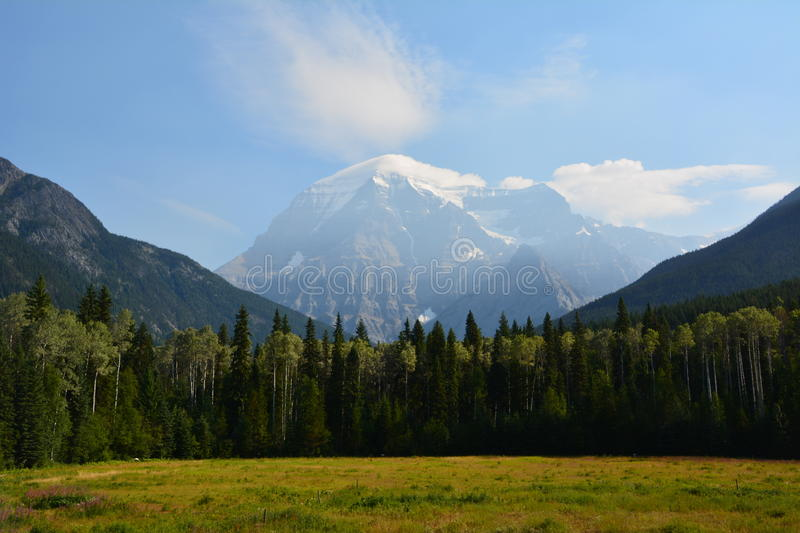 Mount Robson canada. Mount Robson, view from the provincial park Canada stock photography