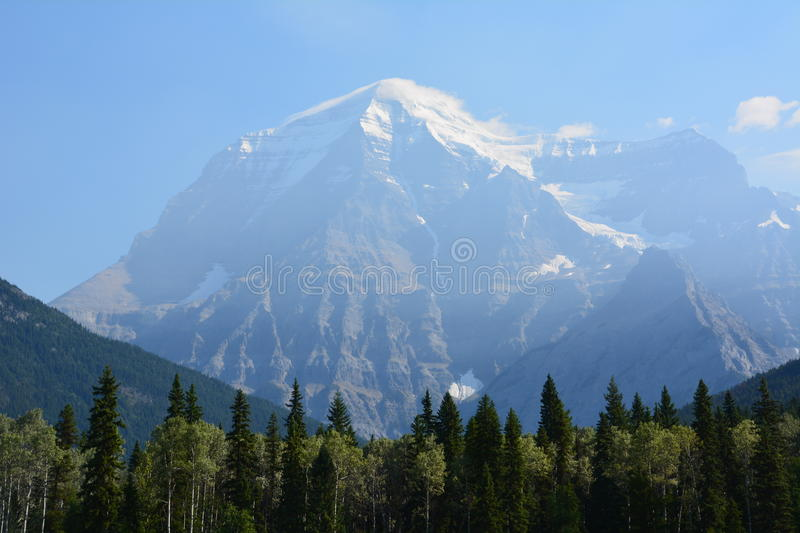 Mount Robson canada. Mount Robson, view from the provincial park Canada royalty free stock photography