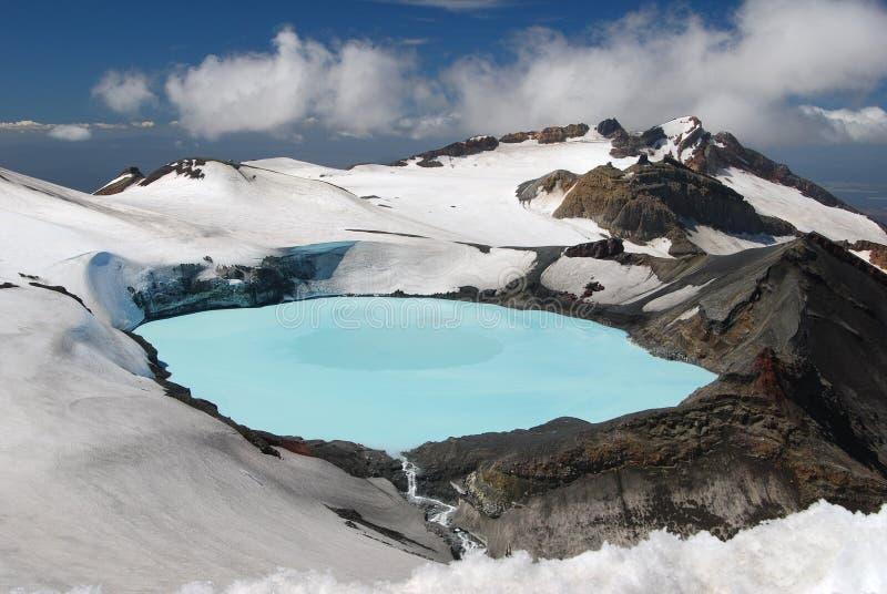Mount Ruapehu Crater Lake. Tongariro National Park, New Zealand stock photography